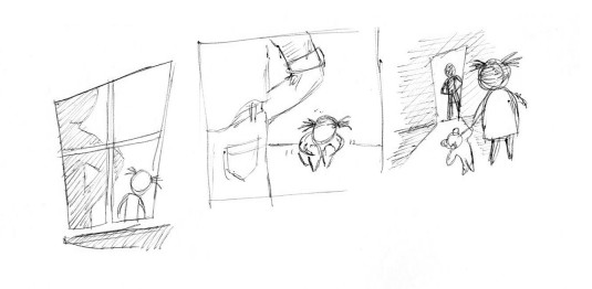 Sketches for the child sexual abuse scene
