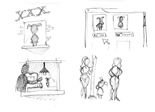 child prostitution early sketches