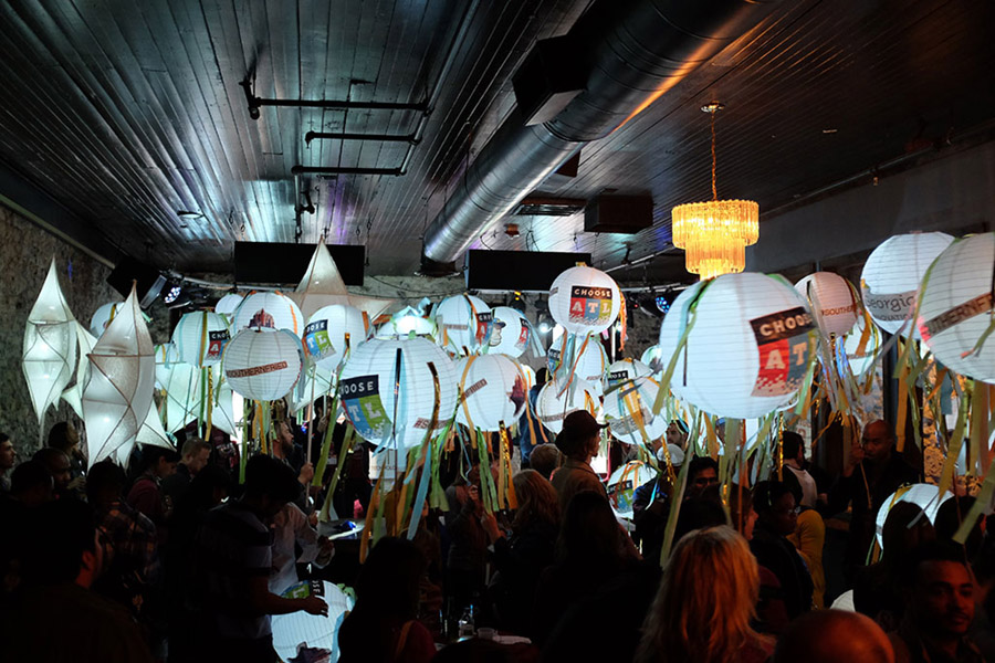 Then when the lanterns came out, the party really started. - Photo by The Nebo Agency