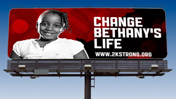 2K Strong Fundraising Campaign Billboard