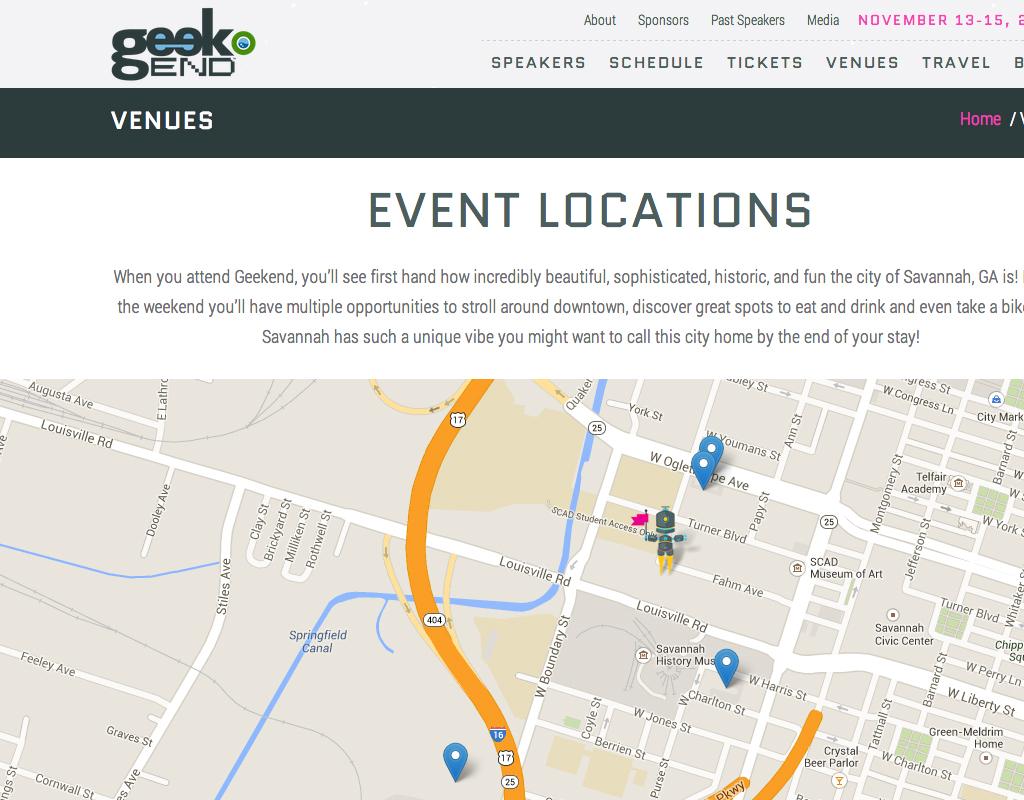 Geekend map
