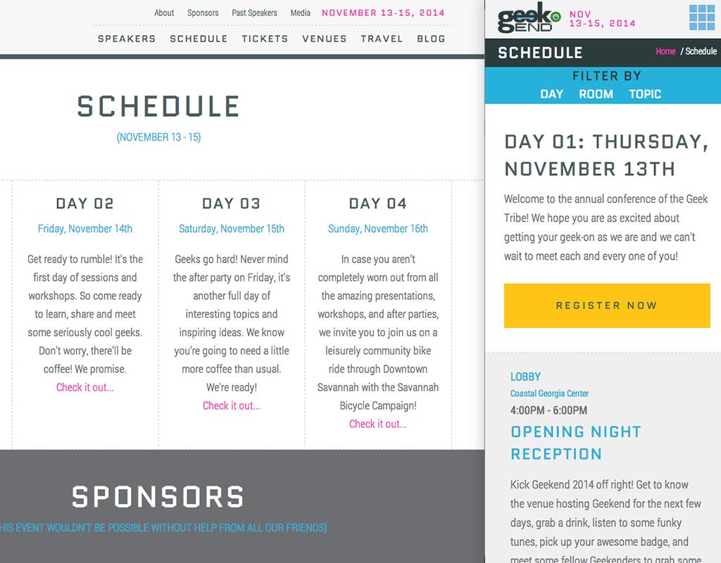 Geekend_schedule
