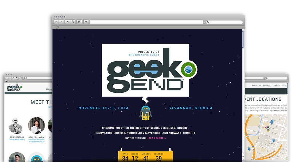 Geekend screens