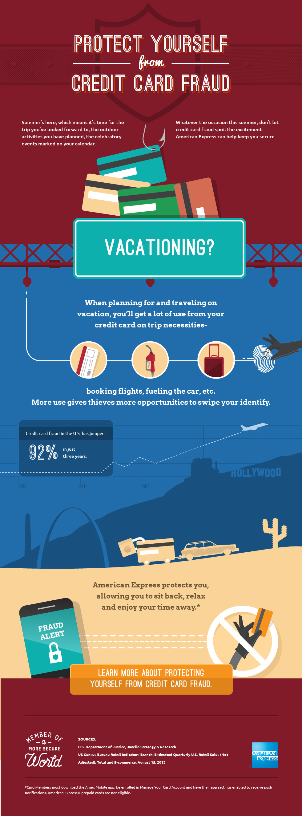 Amex Credit card fraud infographics