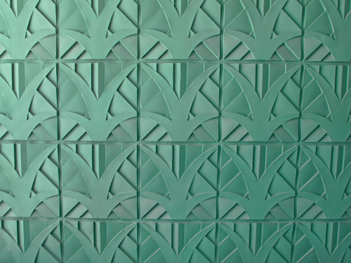 Raised art deco wall tiles